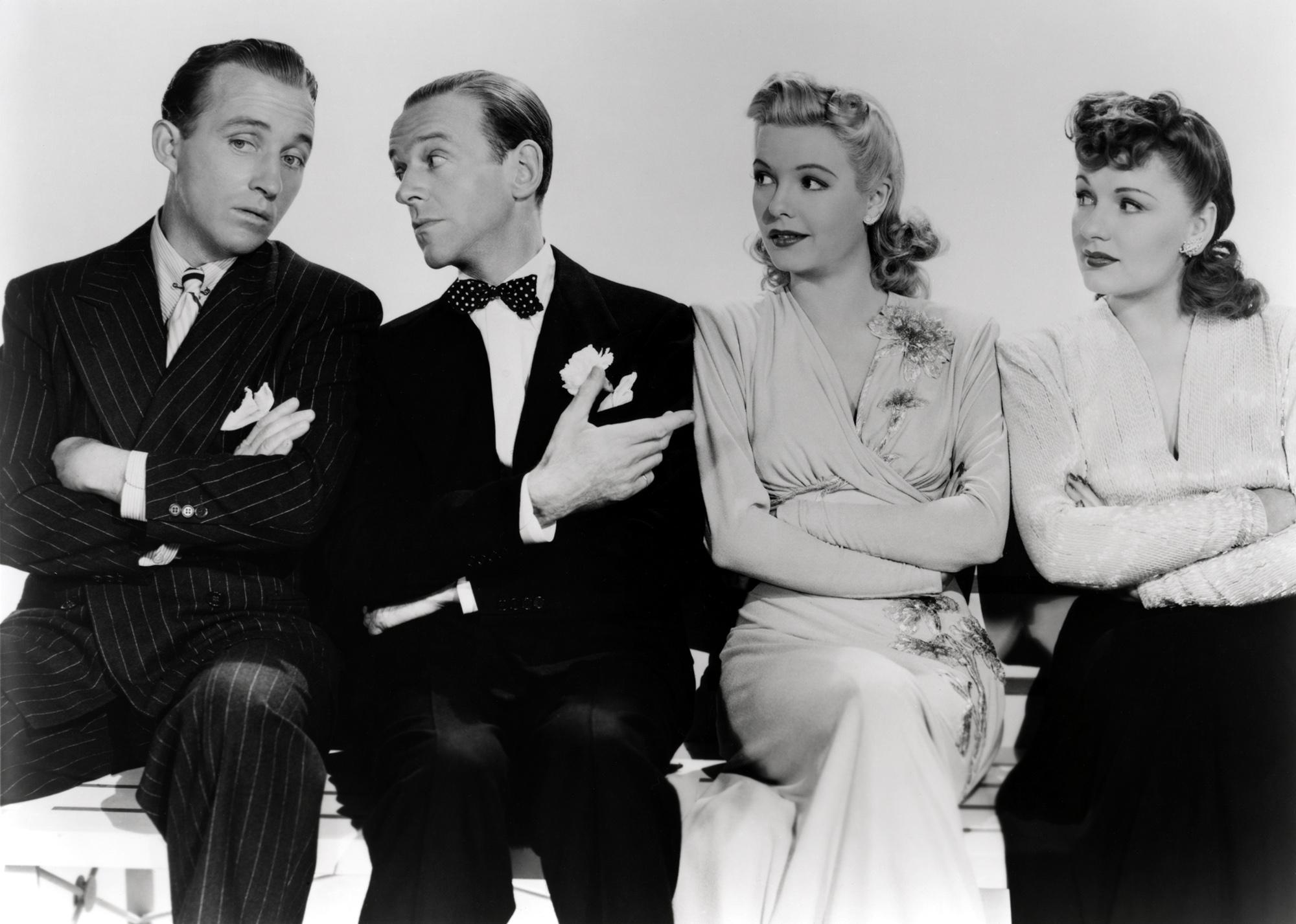 Marjorie Reynolds in Holiday Inn (L to R) Bing Crosby, Fred Astaire, Marjorie Reynolds, Virginia Dale