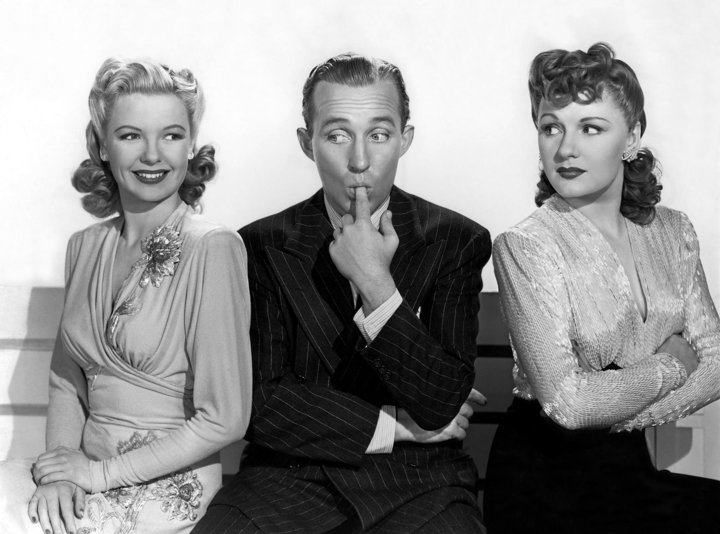 Marjorie Reynolds in Holiday Inn with (L to R)  Marjorie Reynolds, Bing Crosby,  Virginia Dale