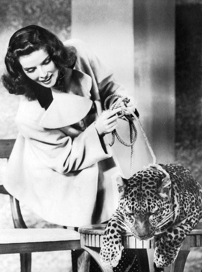 Katharine Hepburn and Baby -Bringing up Baby(1938)