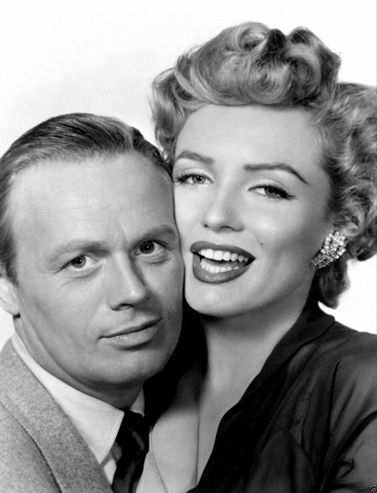 Richard Widmark e Marilyn Monroe