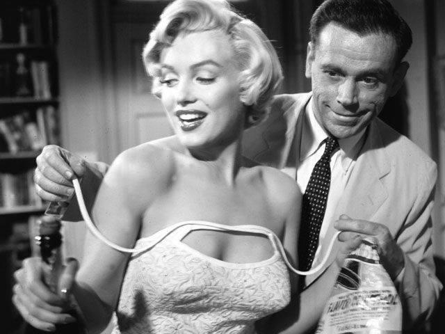 Tom Ewell and Marilyn Monroe
