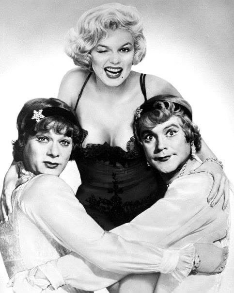 Tony Curtis, Marilyn Monroe and Jack Lemmon