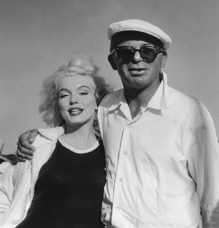 Marilyn Monroe and Billy Wilder