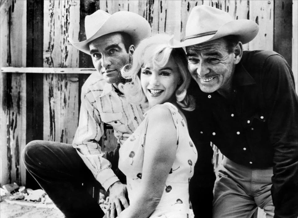 Montgomery Clift, Marilyn Monroe and  Clark Gable