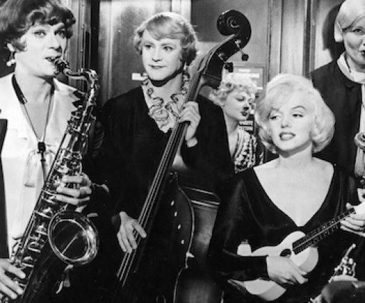 Tony Curtis, Jack Lemmon and Marilyn Monroe
