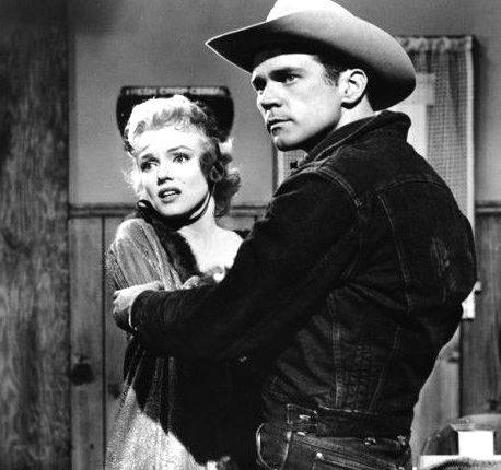 Don Murray and Marilyn Monroe