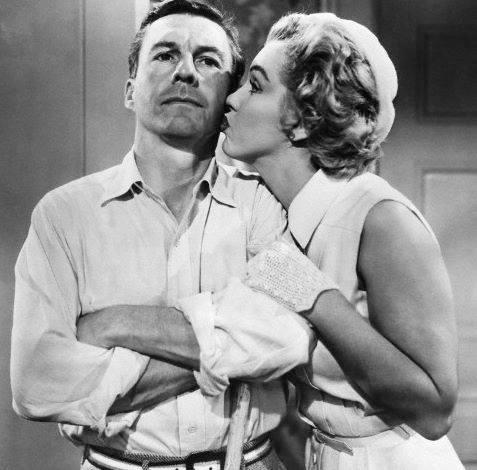 David Wayne and Marilyn Monroe