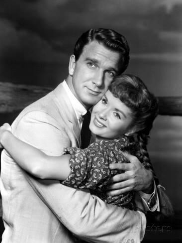 Leslie Nielsen and Debbie Reynolds