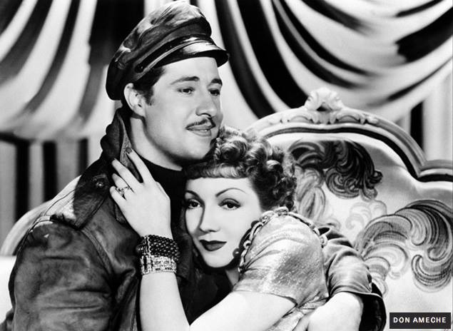 Don Ameche and Claudette Colbert