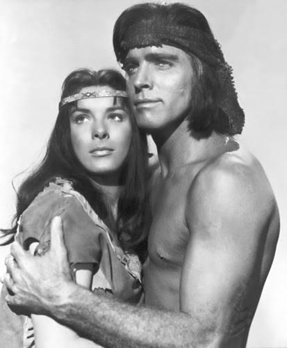 Burt Lancaster and Jean Peters