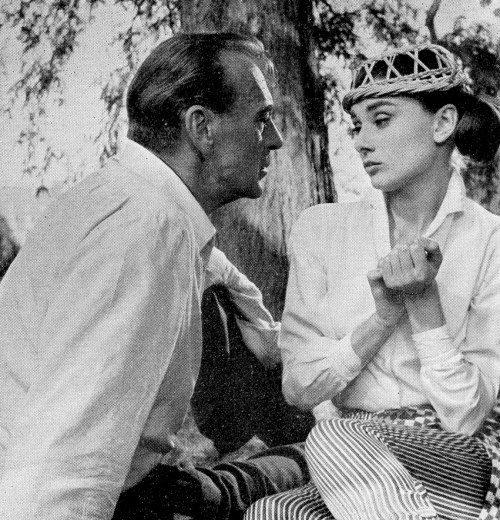 Gary Cooper and Audrey Hepburn