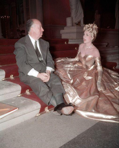 Alfred Hitchcock and Grace Kelly
