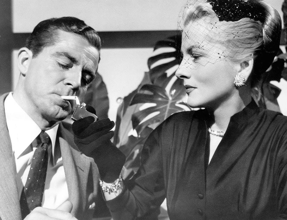 Dana Andrews and Joan Fontaine
