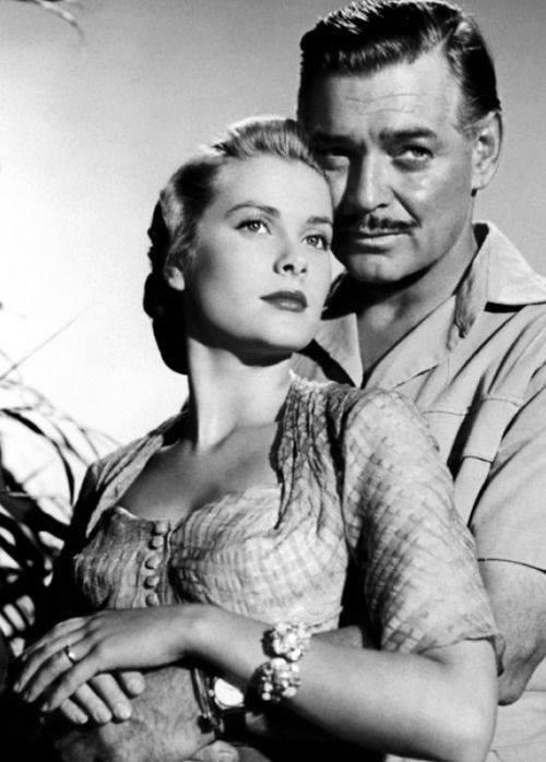 Clark Gable and Grace Kelly
