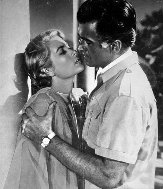 Stewart Granger and Grace Kelly