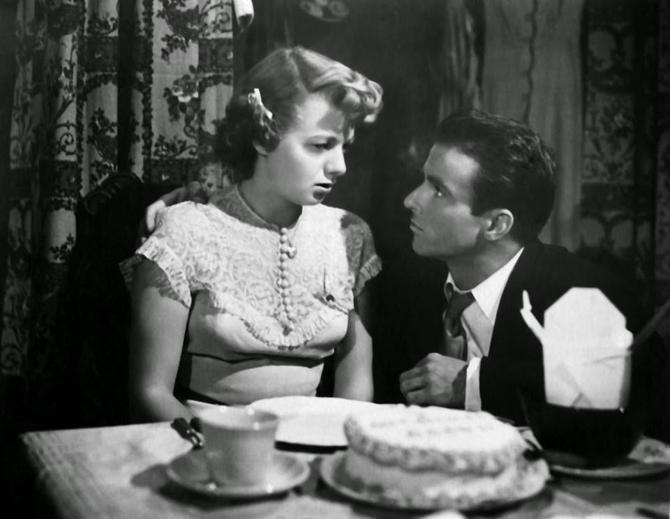 Montgomery Clift and Shelley Winters