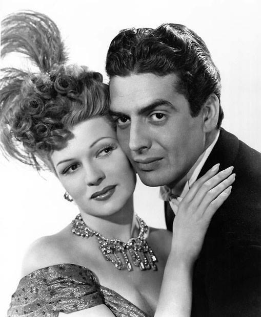 Victor Mature and Rita Hayworth
