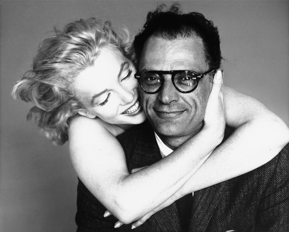 Arthur Miller! Here he is with then-wife, Marilyn Monroe.