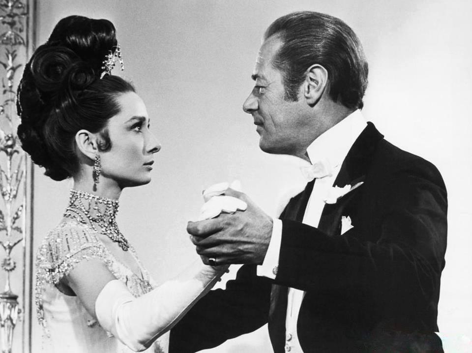 Rex Harrison e Audrey Hepburn