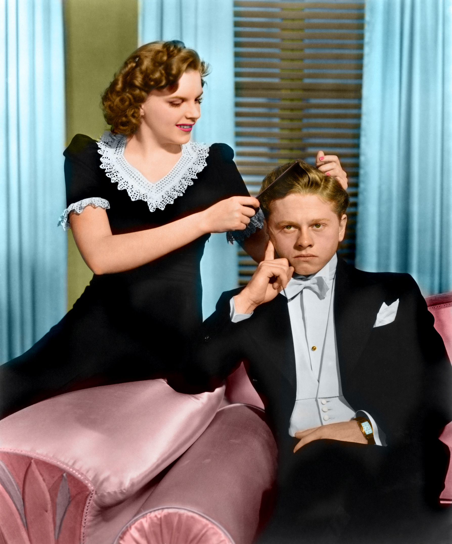 Mickey Rooney With Judy Garland