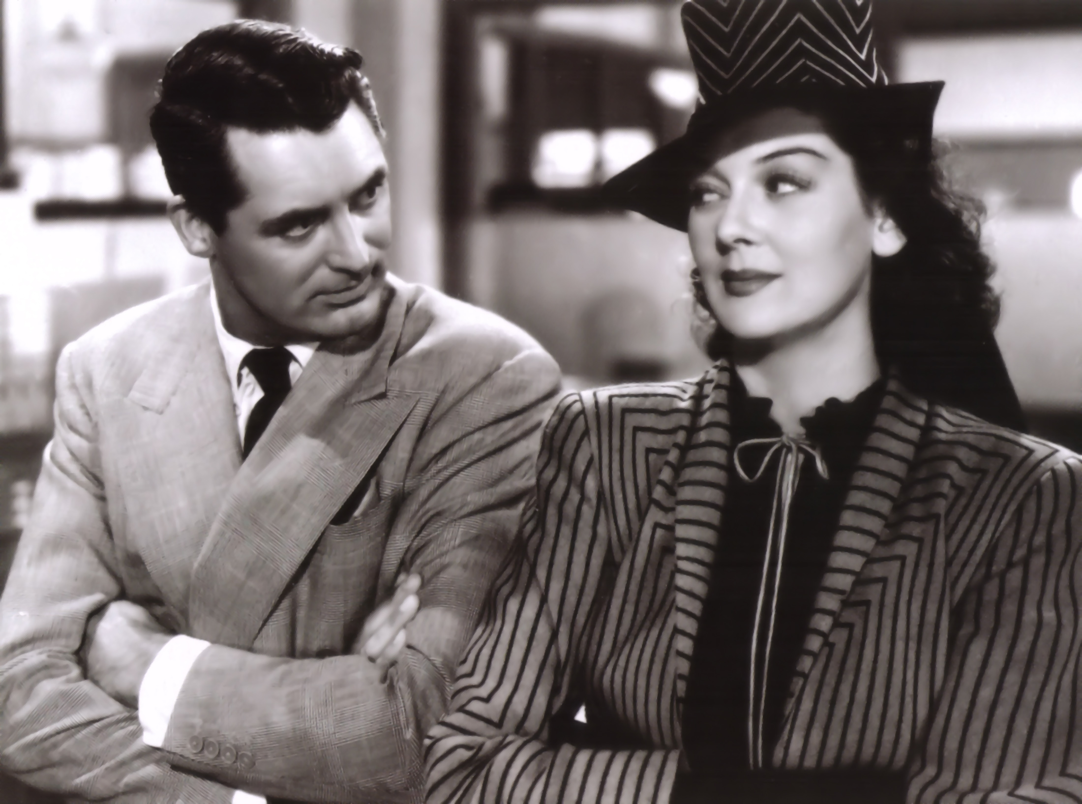 Rosalind Russell With Cary Grant.
