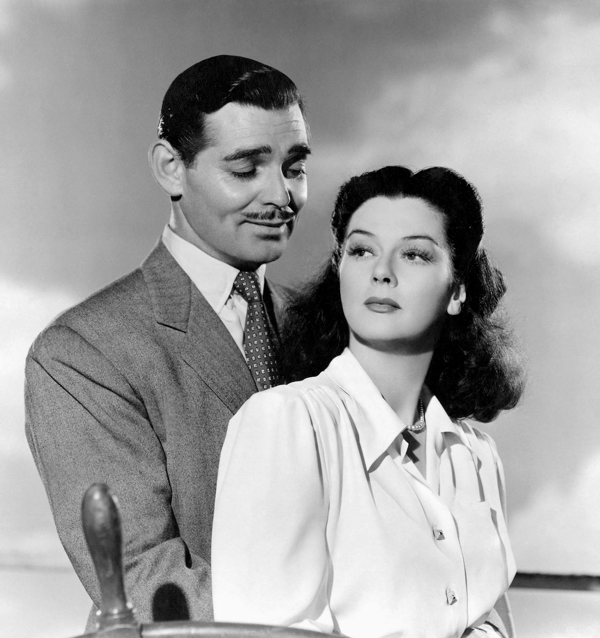Rosalind Russell With Clark Gable.