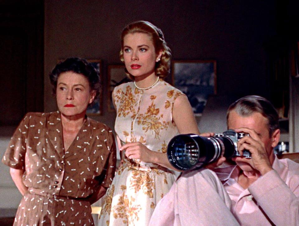 Grace Kelly with Thelma Ritter and James Stewart