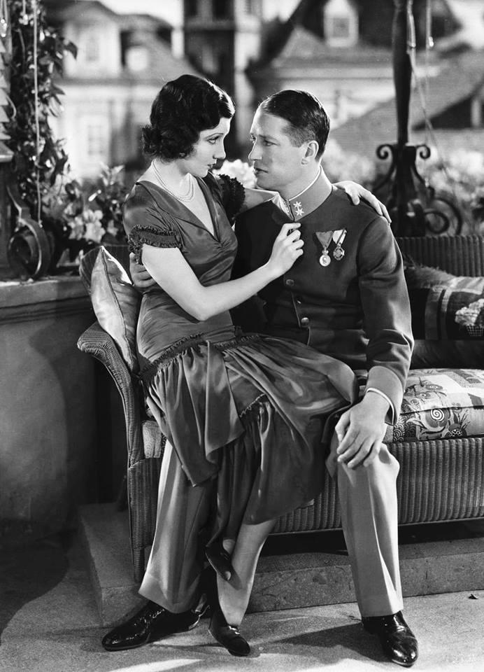 Claudette Colbert & Maurice Chevalier