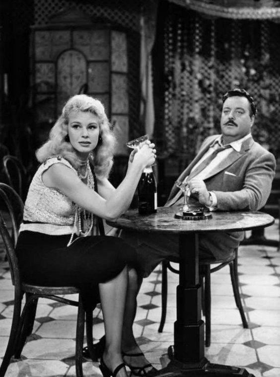 Betsy Palmer and Jackie Gleason