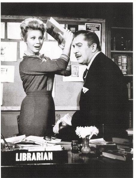 Betsy Palmer and Vincent Price