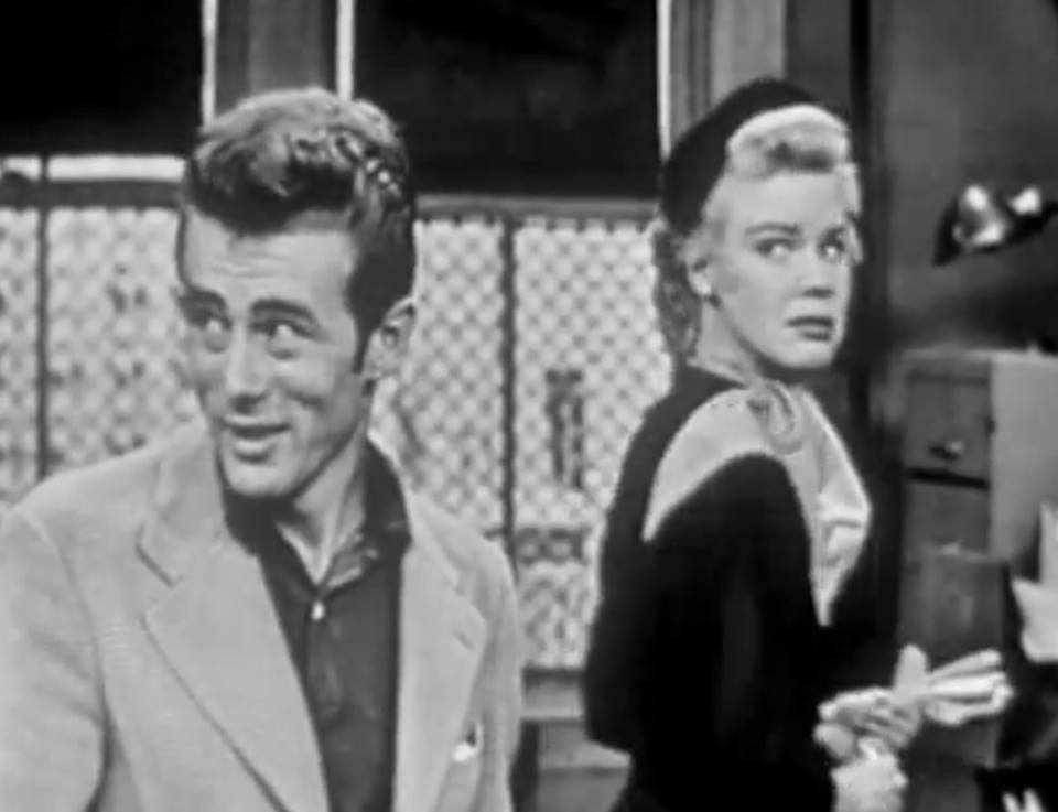 James Dean and Betsy Palmer