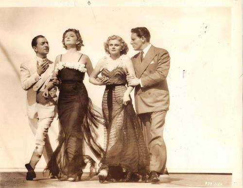 I love this group photo of William Powell, Myrna Loy, Jean Harlow, and Spencer Tracy for Libeled Lady.