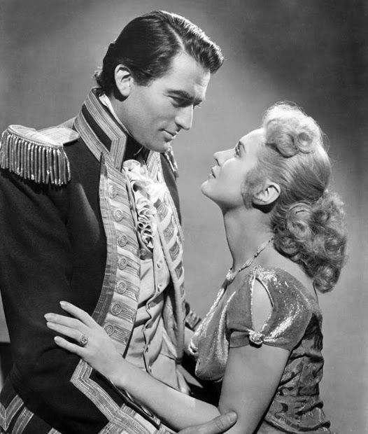 Gregory Peck e Virginia Mayo