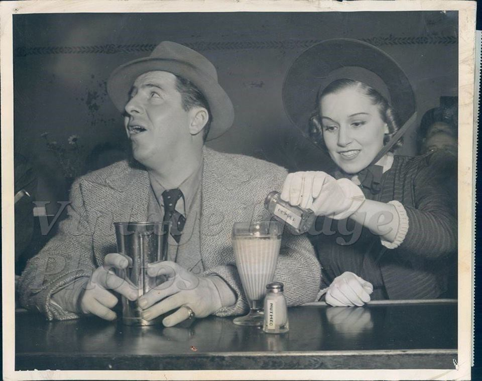 Joe Penner and Julie Gibson