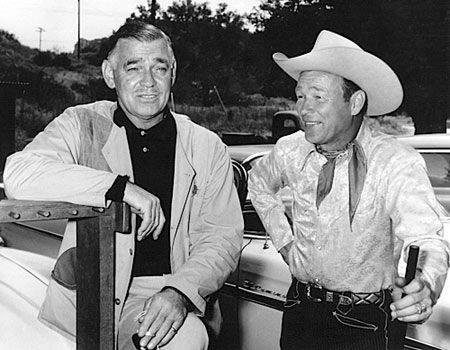 Clark Gable and Roy Rogers