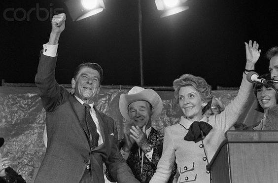 Roy Rogers with Nancy and Ronald Reagan