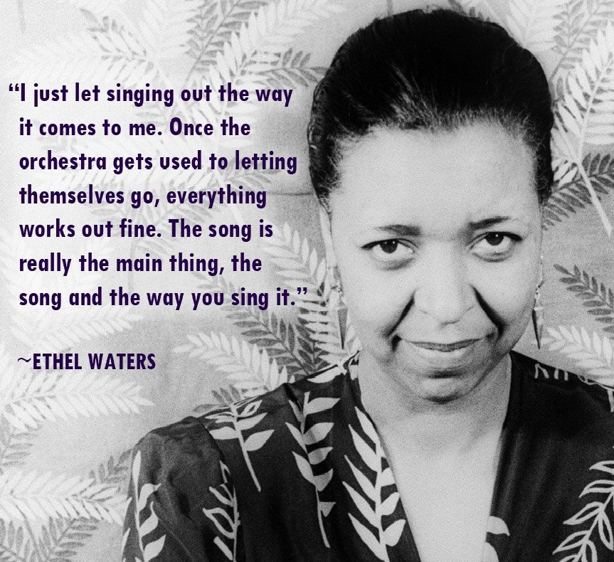 Ethel Waters...Singer and actress Ethel Waters was born in Chester, Pennsylvania, 120 years ago today