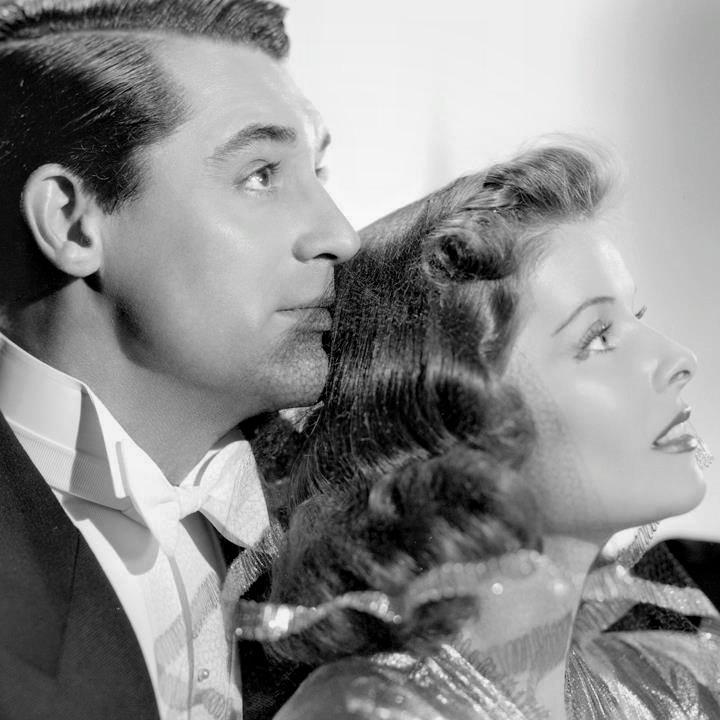 Cary Grant and Katharine Hepburn.