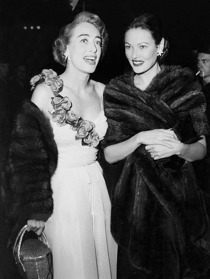 Joan Crawford & Gene Tierney
