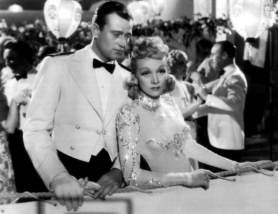 John Wayne e Marlene Dietrich