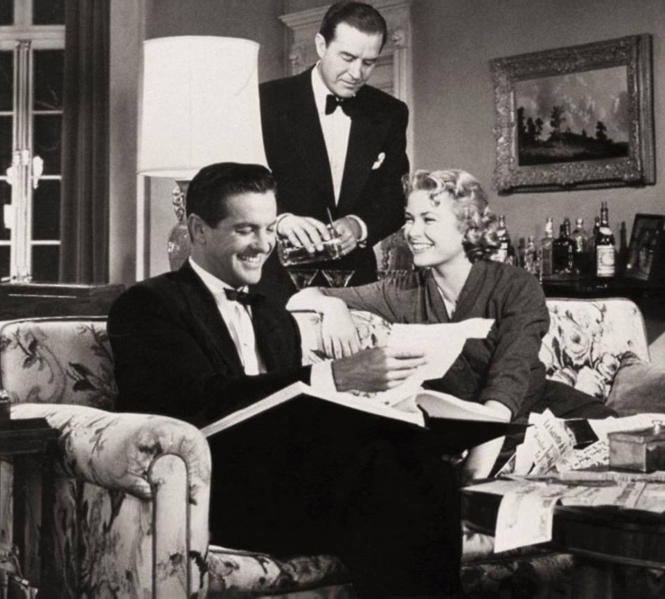 Grace Kelly with Ray Milland and Robert Cummings in