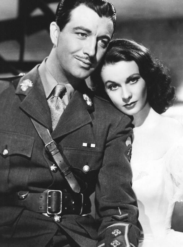 Robert Taylor e Vivien Leigh