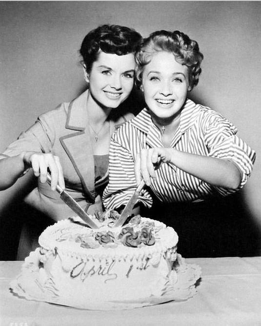 Debbie Reynolds and Jane Powell