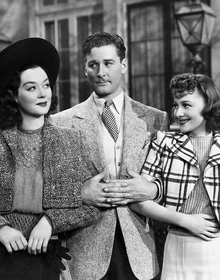 Rosalind Russel,Errol Flynn& Olivia De Havilland