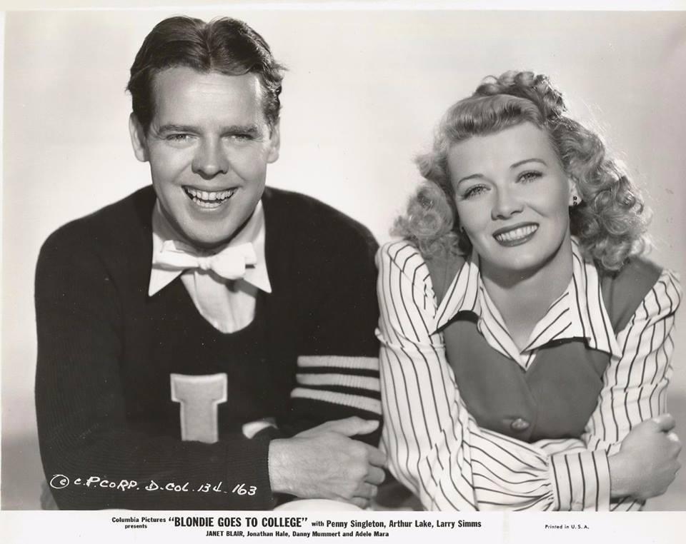 Penny Singleton and Arthur Lake