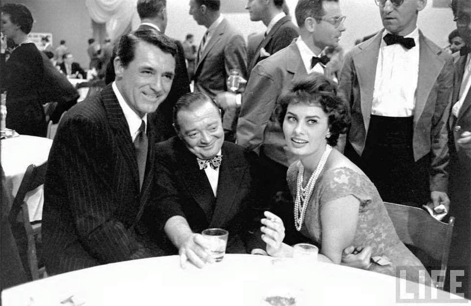Cary Grant,Peter Lorre & Sophia Loren