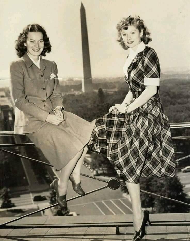 Maureen O'Hara & Lucille Ball
