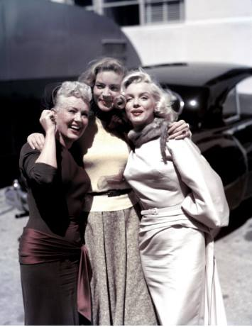 Betty Grable, Lauren Bacall and Marilyn Monroe