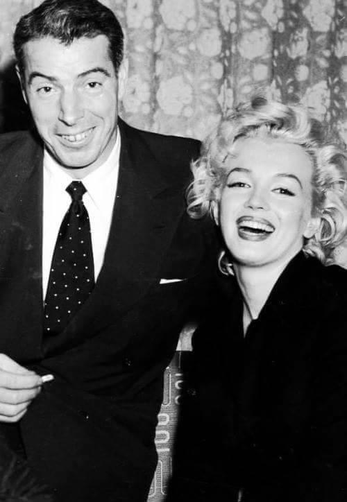 Joe Di Maggio and Marilyn Monroe