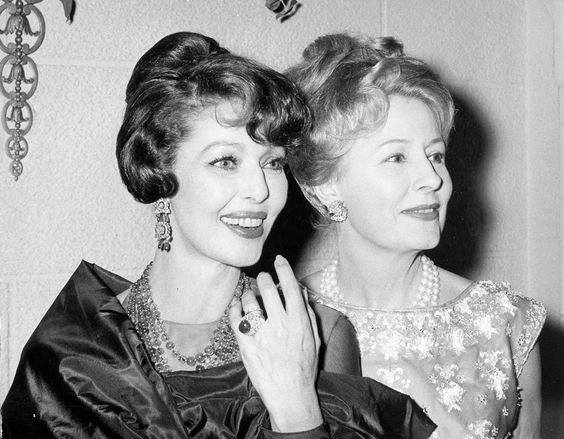 Loretta Young and Irene Dunne
